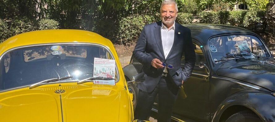 Ο Πατούλης θαύμασε Σκαραβαίους, Mini και άλλα ιστορικά οχήματα