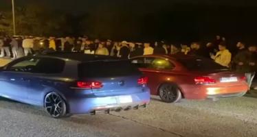 Στήθηκαν για κόντρα αλλά ο οδηγός του Golf R κούμπωσε όπισθεν αντί για πρώτη και τράκαρε ένα Ibiza! (video)